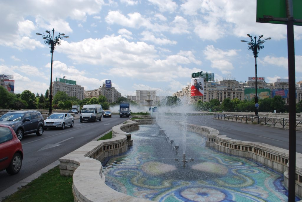 Fontanna na Piața Unirii